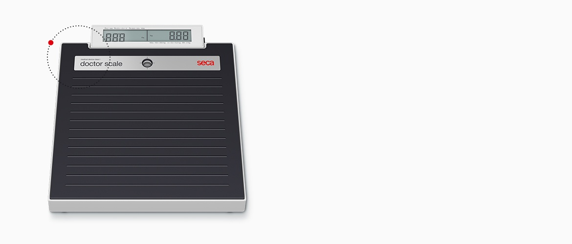 Its name speaks for itself: the seca doctor scale.
